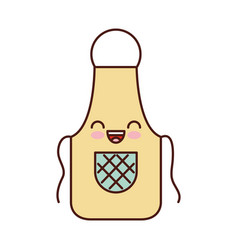 Cook apron kawaii character vector