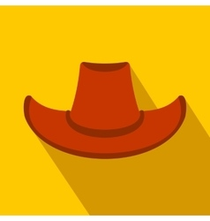 Cowboy hat flat icon vector