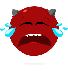 crying face vector image