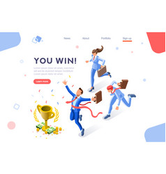cup challenge on financial event vector image