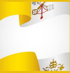 Decoration vatican city insignia vector