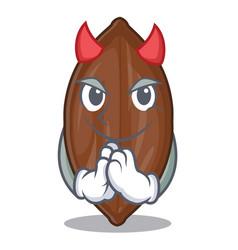 Devil pecan nuts pile on plate cartoon vector