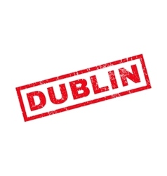 Dublin Rubber Stamp vector
