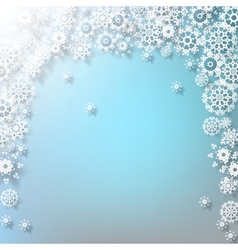 Elegant Christmas with snowflakes EPS 10 vector image