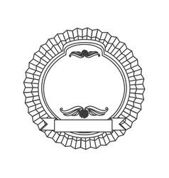 figure emblem with symbols inside icon vector image
