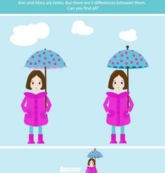 Find the differences game vector image