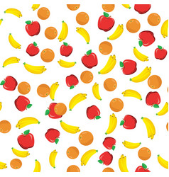 flat fruits seamless pattern vector image