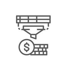 funnel with money finance conversion vector image