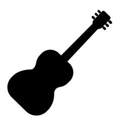 guitar flamenco 2 icon black vector image
