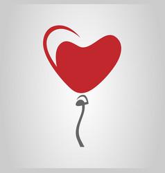 heart-shaped balloon symbol icon vector image