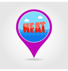 Heat pin map icon Summer Vacation vector