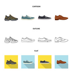 Isolated object shoe and footwear logo vector