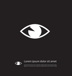 isolated vision icon see element can be vector image