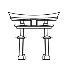 Japanese pagoda temple vector image