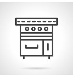 Kitchen stove black line design icon vector image