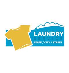 Laundry service emblem vector