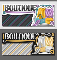 layouts for boutique vector image