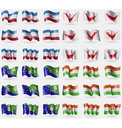 Mari El Easter Rapa Nui Christmas Island Niger Set vector