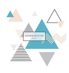 minimalist scandinavian background triangle vector image