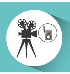 movie video camera film retro vector image
