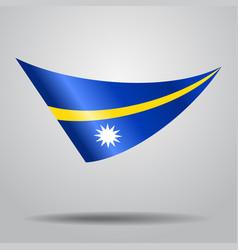 Nauru flag background vector