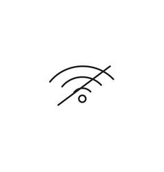 no wireless signal icon vector image