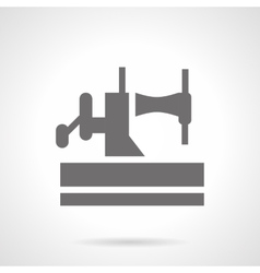 Old manual sewing machine glyph style icon vector