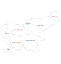 Outline Slovenia map vector