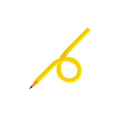 Pencil wooden sharp transformed yellow amber vector