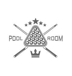 pool room billiard club monochrome emblems vector image