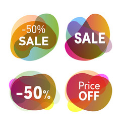 Sale stickers set discounts and price reduction vector