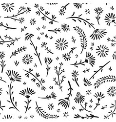 seamless pattern artistic background with flowers vector image