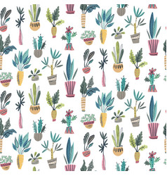 seamless pattern with collection of house vector image