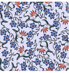 seamless pattern with flowers in art deco style vector image