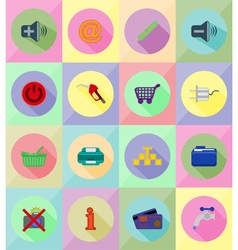 Service flat icons 39 vector