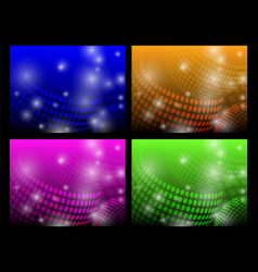 set of abstract glowing backgrounds vector image