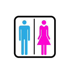 sign wc icon concept for design vector image
