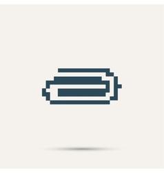 Simple stylish pixel icon clip design vector image