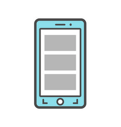 Smartphone isolated linear icon vector