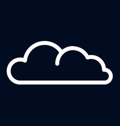 snow cloud icon outline style vector image