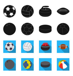 Sport and ball sign set of vector
