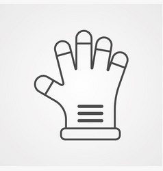 stove glove icon sign symbol vector image