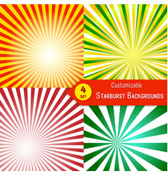 stylish sunburst background collection vector image