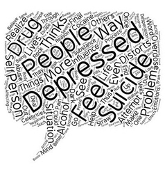 Suicide The Final Straw text background wordcloud vector image