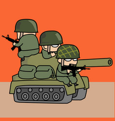 Tank and army vector