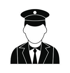 Train conductor black simple icon vector image