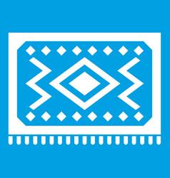 Turkish carpet icon white vector