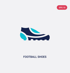 two color football shoes icon from football vector image