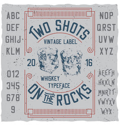 Vintage label whiskey poster vector