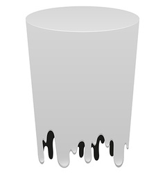White cylindrical form on white vector